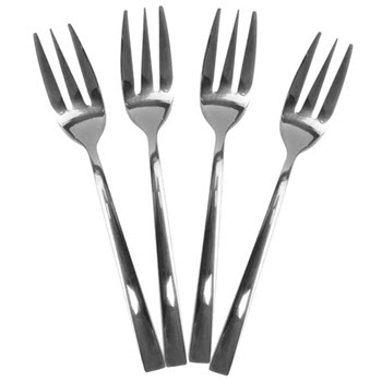 Alex Liddy Slate & Co 4 Piece Cake Fork Black