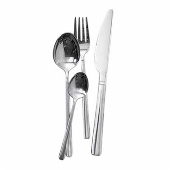 Alex Liddy Slate & Co 4 Piece Cutlery Set Silver