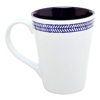 Alex Liddy Azul 415ml Mug Chevron