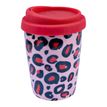 Take Away Neo 250ml Double Wall Mug with Lid Leopard