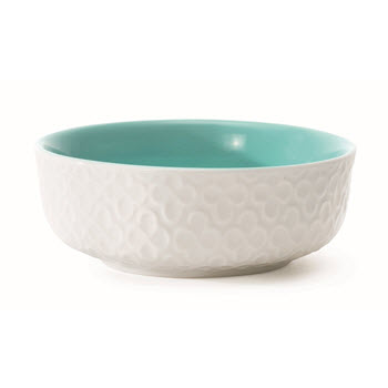 Marie Claire Joie 8cm Embossed Bowl Blue