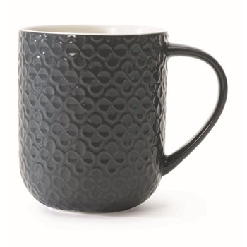 Marie Claire Joie 375ml Embossed Mug Stone