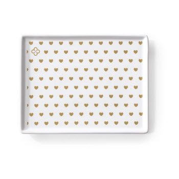 Marie Claire Joie 13 x 7cm Polka Dot Hearts Appetiser Plate