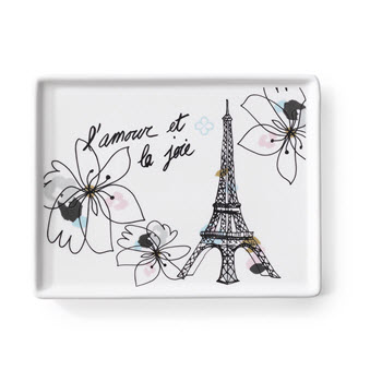 Marie Claire Joie 13 x 7cm Eiffel Tower Appetiser Plate