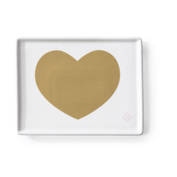 Marie Claire Joie 13 x 7cm Heart Appetiser Plate