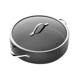 Baccarat iD3 Non Stick Hard Anodised Saute Pan with Lid 32cm