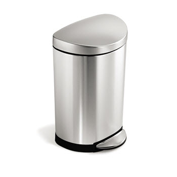Simplehuman Semi-Round Step Trash Can 10L Stainless Steel