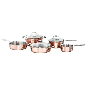 Baccarat Le Connoisseur 5-Piece Copper Cookset