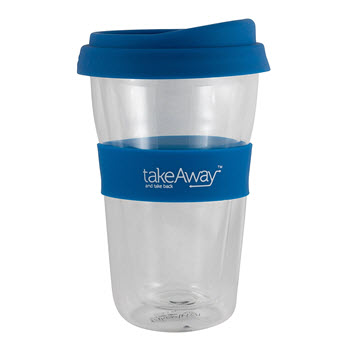 TakeAway Tali Double Wall Glass with Lid Navy