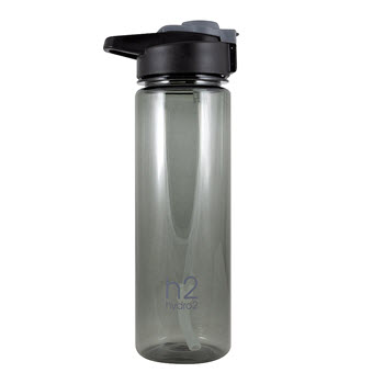 Hydro2 Fit Tritan Drink Bottle Charcoal 750ml