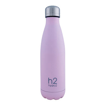 Hydro2 Quench Double Wall Stainless Steel Drink Bottle 500ml Pink