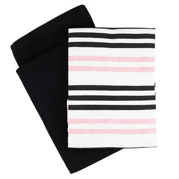 Marie Claire Belle Stripe Tea Towel Set of 2
