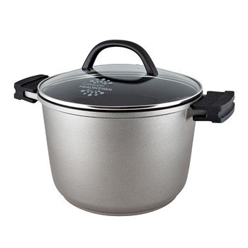 Cuisinepro Health Pan Non-Stick Stock Pot 24cm with Glass Lid and 2 x BONUS Silicone Pot Holders