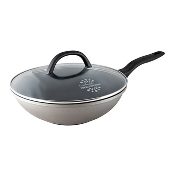 Cuisinepro Health Pan Non-Stick Wok with Glass Lid 28cm
