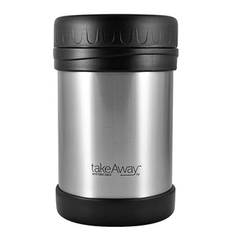 TakeAway Out Double Wall Stainless Steel Food Jar Silver 750ml