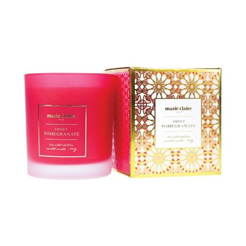 Marie Claire Mosaique Pomegranate Candle in Jar 265ml