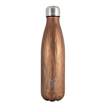 h2 hydro2 Double Wall Stainless Steel Water Bottle 500ml Natural