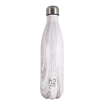 Hydro2 Double Wall Stainless Steel Drink Bottle 750ml White Timber