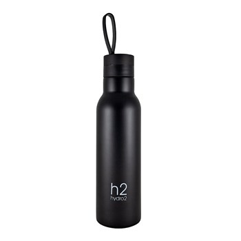 Hydro2 Quench Double Wall Stainless Steel Drink Bottle 500ml Black