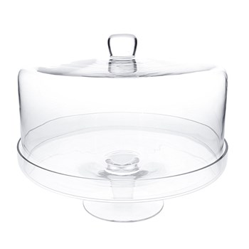 Alex Liddy Slate & Co Glass Cake Stand with Dome 30cm