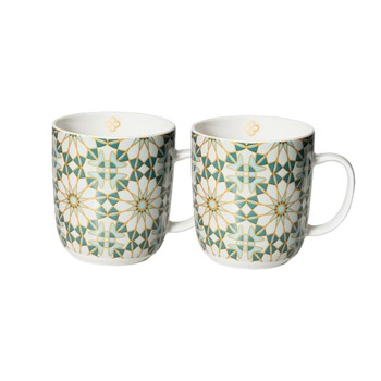 Marie Claire Mosaique Mug 400ml Set of 2 Teal