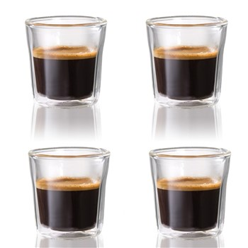 Baccarat Barista Facet Double Wall Espresso Glass 88ml Set of 4