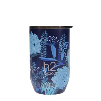 h2 hydro2 Togo Double Wall Stainless Steel Coffee Cup 380ml Flower