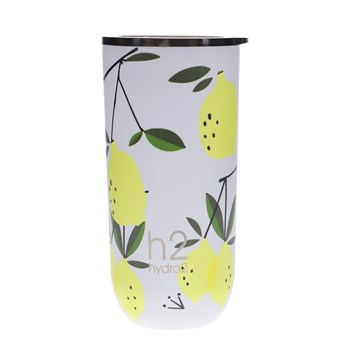 h2 hydro2 Togo Double Wall Stainless Steel Coffee Cup 480ml Lemon
