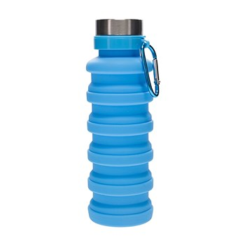 h2 hydro2 Fit Collapsible Silicone Water Bottle 470ml Blue