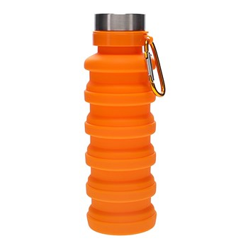 h2 hydro2 Fit Collapsible Silicone Water Bottle 470ml Orange