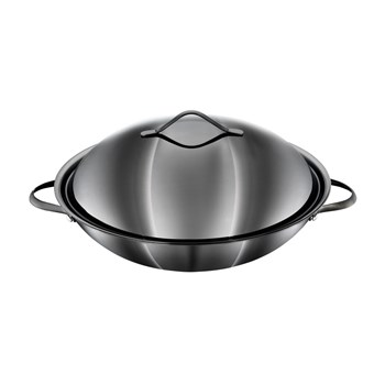 Baccarat iD3 Black Platinum Stainless Steel Wok with Lid 36cm