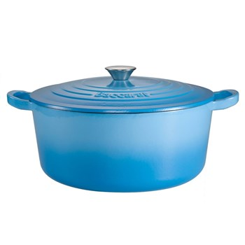Baccarat Le Connoisseur Limited Edition Cast Iron Round French Oven 29cm /6.3L Blue