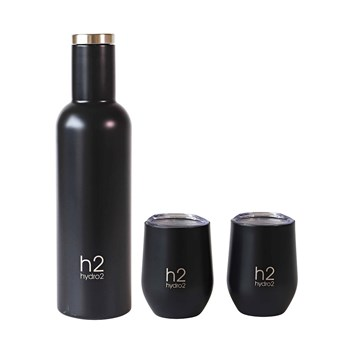 h2 hydro2 Quench 3 Piece Insulated Wine Flask & Tumbler Set