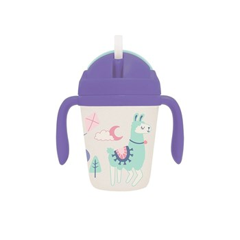 Penny Scallan Loopy Llama Bamboo Sippy Cup with Weighted Straw 250ml