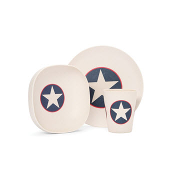 Penny Scallan Bamboo Meal Time Set Navy Star