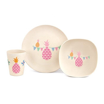 Penny Scallan Bamboo Meal Time Set Pineapple Bunting