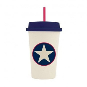 Penny Scallan Bamboo Tumbler with Lid Navy Star