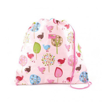 Penny Scallan Coated Drawstring Bag Chirpy Bird