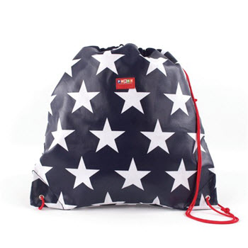 Penny Scallan Coated Drawstring Bag Navy Star