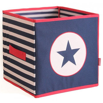 Penny Scallan Collapsible Storage Box Navy Star