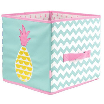 Penny Scallan Collapsible Storage Box Pineapple Bunting