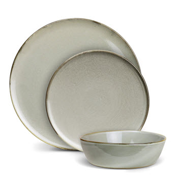 Robert Gordon Canvas Stoneware Dinner Set 3 Piece Saltbush