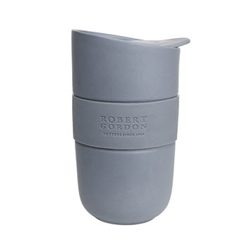 Robert Gordon Journey Ceramic Travel Mug with Inset 300ml Matte Grey
