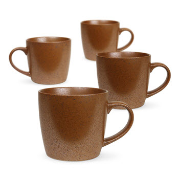 Robert Gordon Granite Stoneware Mug 350ml Set of 4 Rust