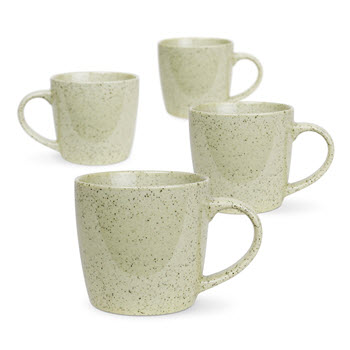 Robert Gordon Granite Stoneware Mug 350ml Set of 4 Green Pepper