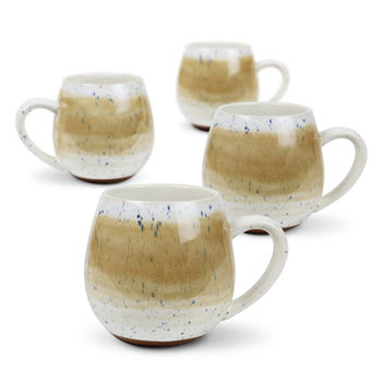 Robert Gordon Stoneware Hug Mug 400ml Set of 4 Mediterranean Tan