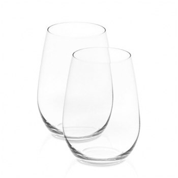 Riedel O 2-Piece Crystal Riesling/Sauvignon Blanc Stemless Wine Glass Set 375ml