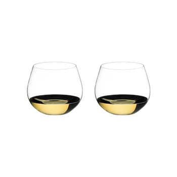 Riedel O 2-Piece Crystal Oaked Chardonnay Stemless Wine Glass Set 580ml
