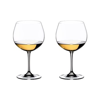 Riedel Vinum 2-Piece Crystal Oaked Chardonnay Wine Glass Set 600ml