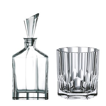 Nachtmann Aspen 7-Piece Crystal Whisky Decanter & Tumbler Set 750ml/324ml